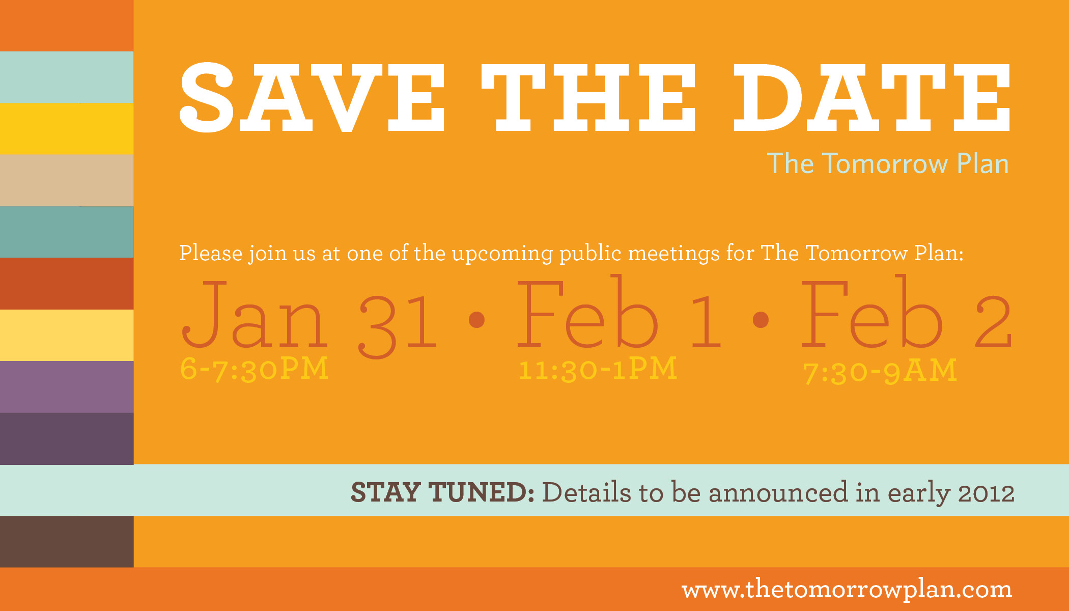 Save the Date | The Tomorrow Plan